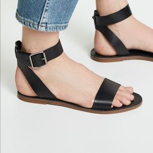 Madewell The Boardwalk Ankle-Strap Leather Sandal